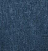 vidaXL Eetkamerstoelen 4 st draaiend stof blauw