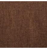 vidaXL Eetkamerstoelen 6 st draaiend stof bruin