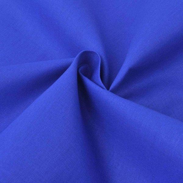 Stof katoen 1,45x20 m blauw