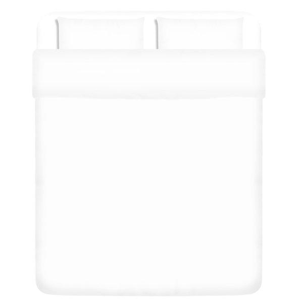 dekbedovertrek driedelig katoen wit 240 x 220/60 x 70 cm