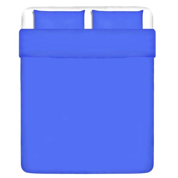 dekbedovertrek tweedelig katoen blauw 240 x 220/60 x 70 cm