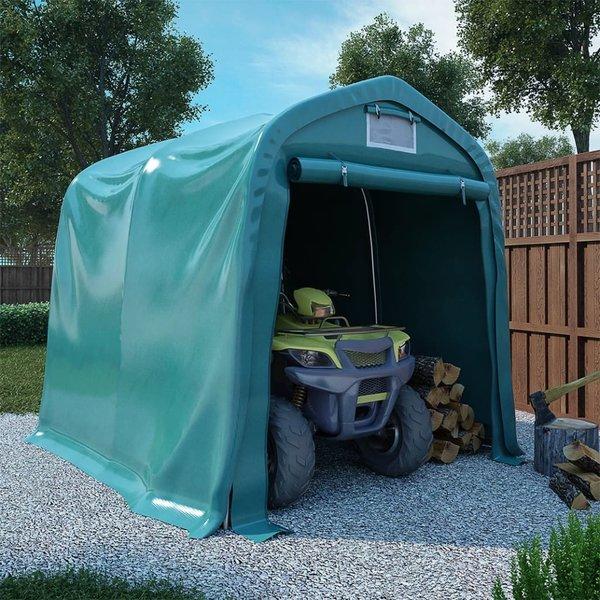 Garagetent 2,4x2,4 m PVC groen