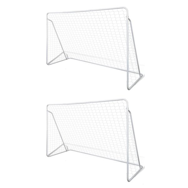 Voetbalgoals 2 st 240x90x150 cm staal