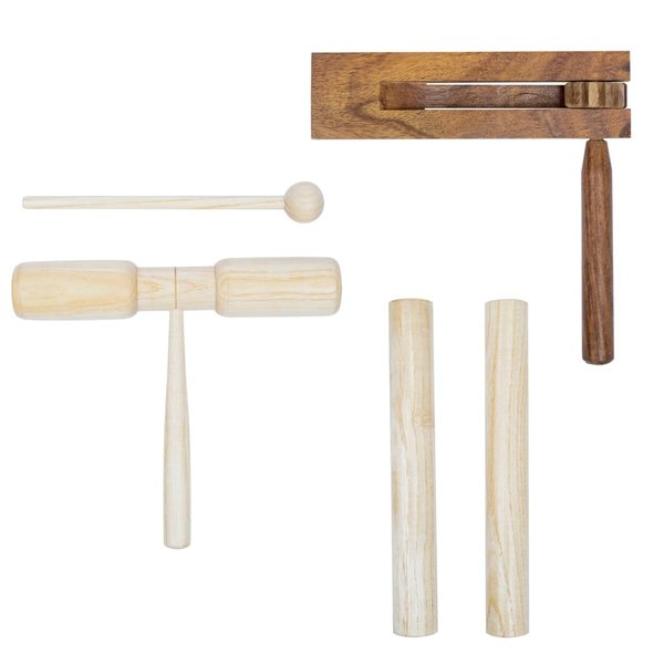 3-delige Percussieset hout