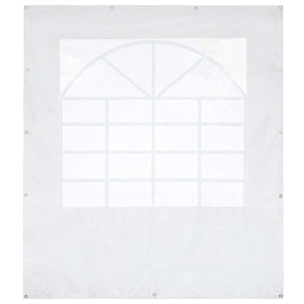 Partytent zijpaneel met raam 550 g/m² 2x2 m PVC wit