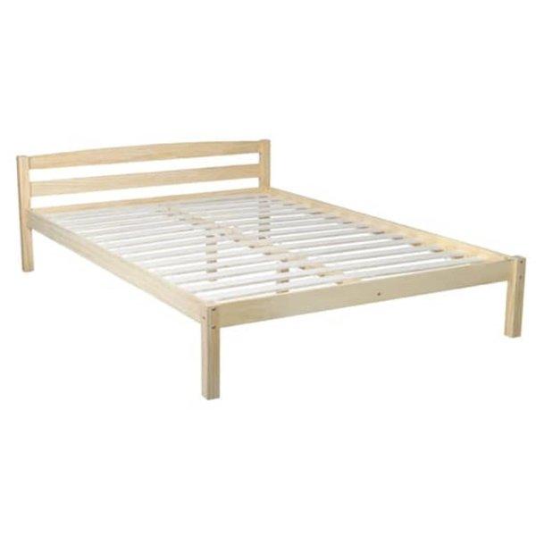 2-persoonsbed van hout 140 x 200 cm.