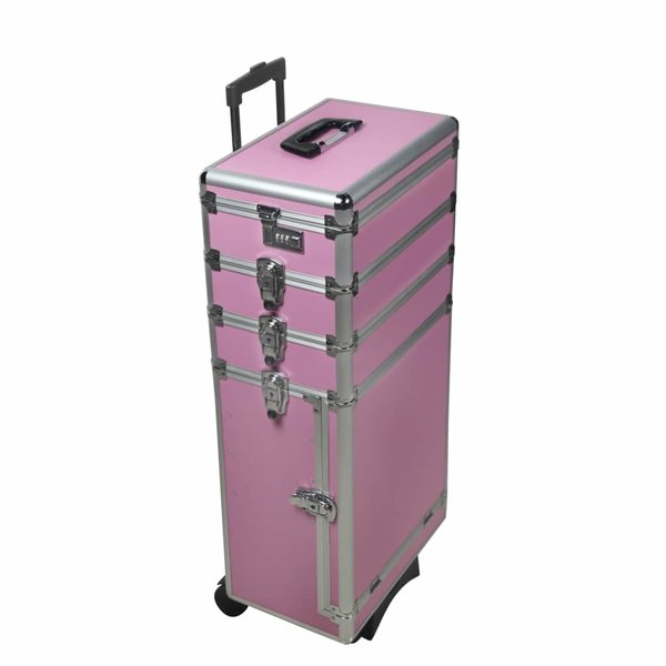 Multifunctionele trolleykoffer 6 in 1 roze