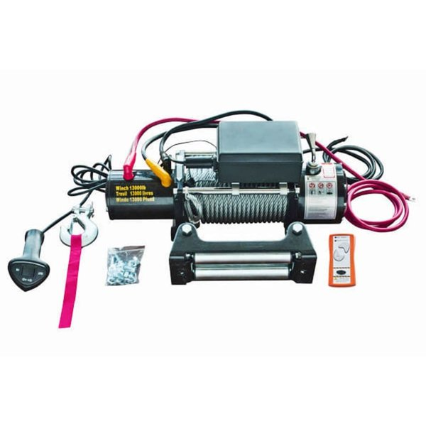 Elektrische lier 12v 5909 kg. met afstandsbediening