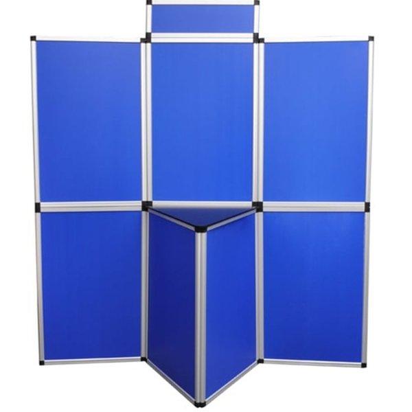 Presentatiewand kunststof 180x200cm blauw