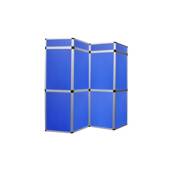 Presentatiewand kunststof 240x200cm blauw