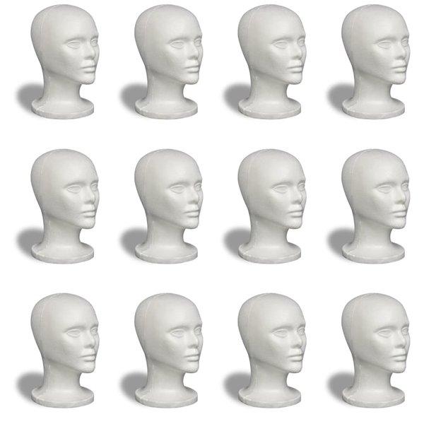 Piepschuimen hoofden 12 stuks