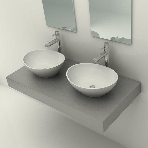 Badkamer wastafel-blad voor 2 wastafels