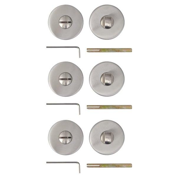 Deur toiletrozet RVS (3 sets)