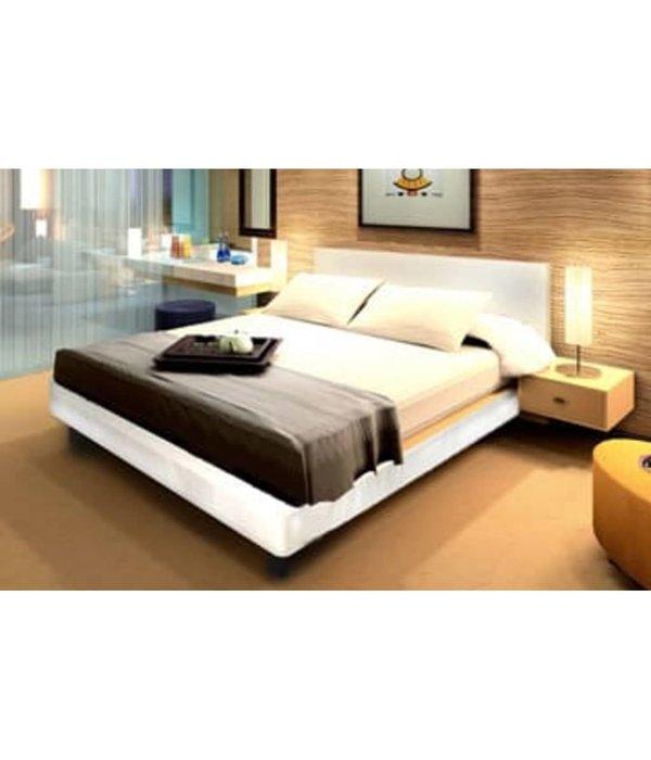 Skai Leren Bed.Vidaxl 2 Persoons Bed Van Creme Leer 180 X 200 Cm Voordeeltrends
