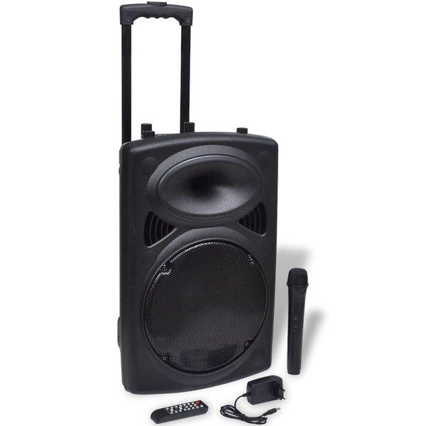 Speaker trolley draagbaar met microfoon