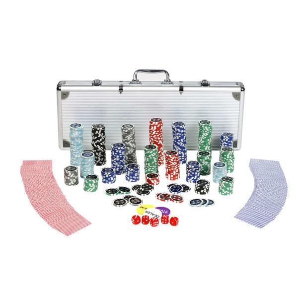 Professionele poker set 500 laser chips 11,5g.