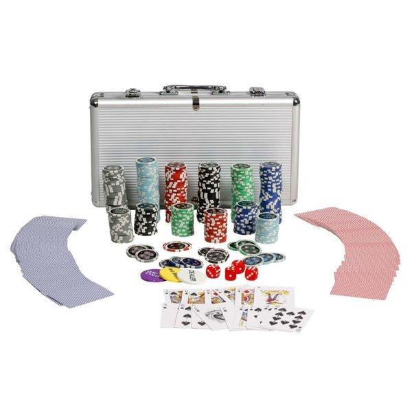Professioneel poker set 300 laser chips 11,5g.