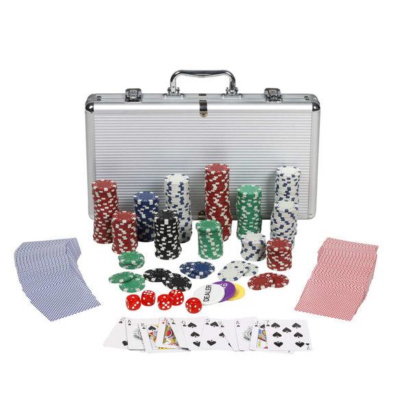 Professioneel poker set 300 chips 11,5 g.