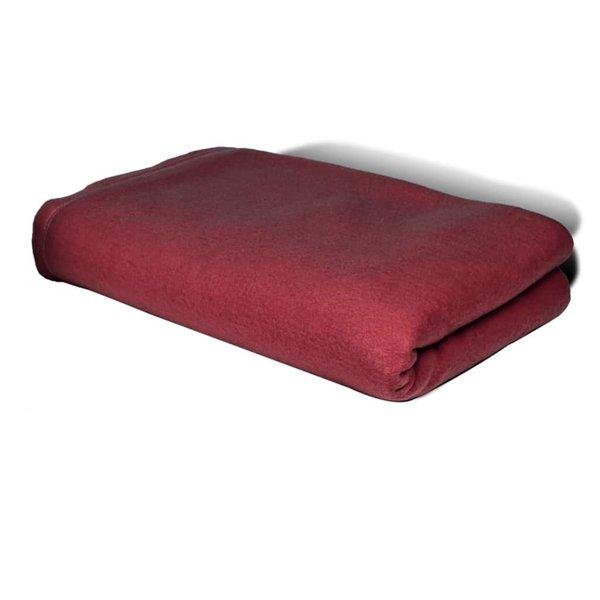 Fleece deken bordeaux