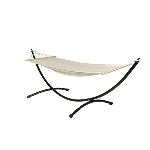 Hangmat met standaard 200 x 80 (crème)