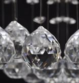 vidaXL Hanglamp met schitterende kristallen kralen 3xGU10 55cm (Wit)