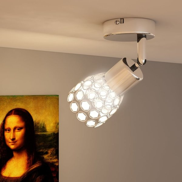 Kristal LED spot met ingebouwde 1 x 4 W LED lampen