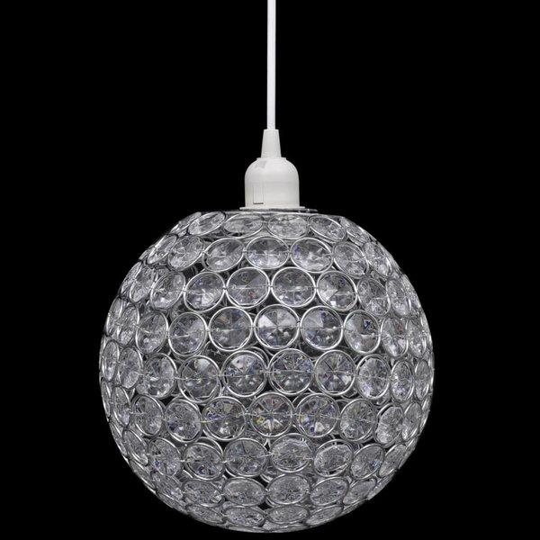 Bolvormige lamp met kristallen 23 cm diameter