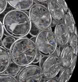 vidaXL Bolvormige lamp met kristallen 23 cm diameter