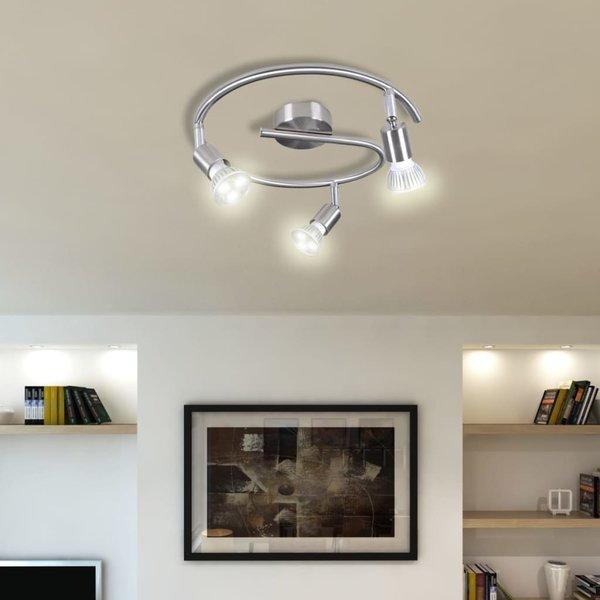 Plafondlamp 3-LED Spots nikkel