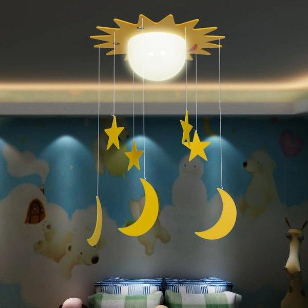 Hang-/plafondlamp Manen & Sterren voor kinderslaapkamer