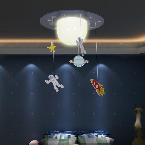 Hang-/plafondlamp Astronauten voor kinderslaapkamer