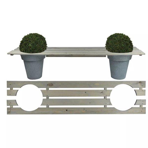 Bank met plantenbakken 180 cm NG71