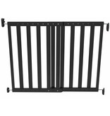 Veiligheidshekje verstelbaar 63,5-106 cm hout zwart 93743
