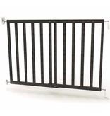 Veiligheidshekje verstelbaar 63,5-106 cm hout grijs 94146