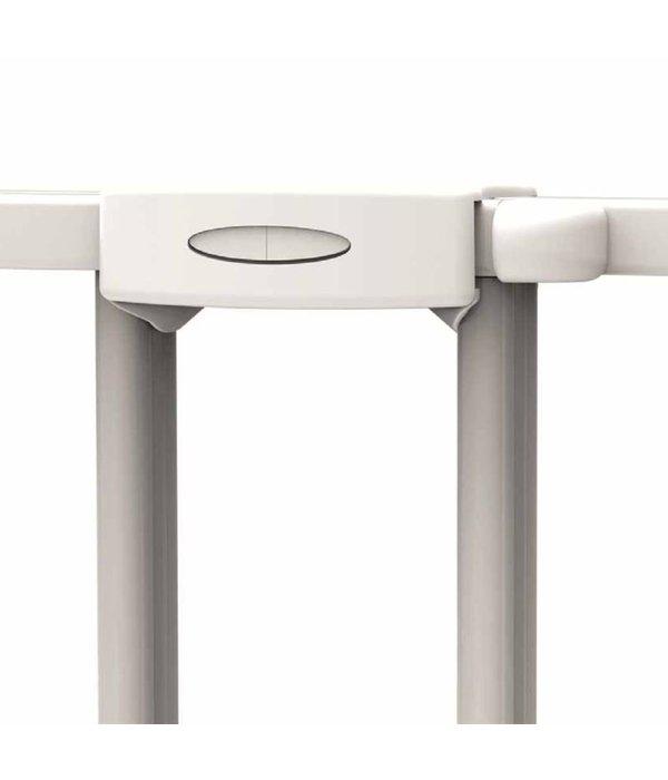 Traphekje verlengbaar 62-102 cm metaal wit 93361