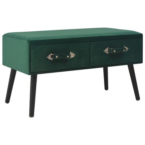 Bijzetkast 80x40x46 cm fluweel groen