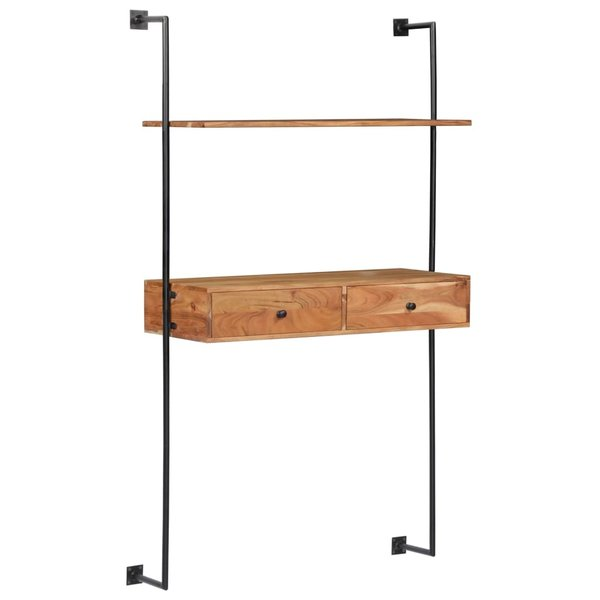 Wandbureau 90x40x170 cm massief acaciahout