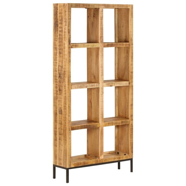 Boekenkast 80x25x175 cm massief mangohout