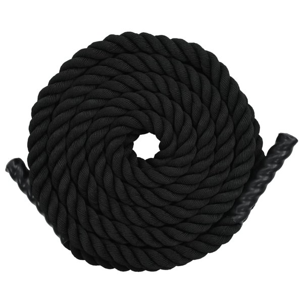 Battle rope 15 m polyester zwart