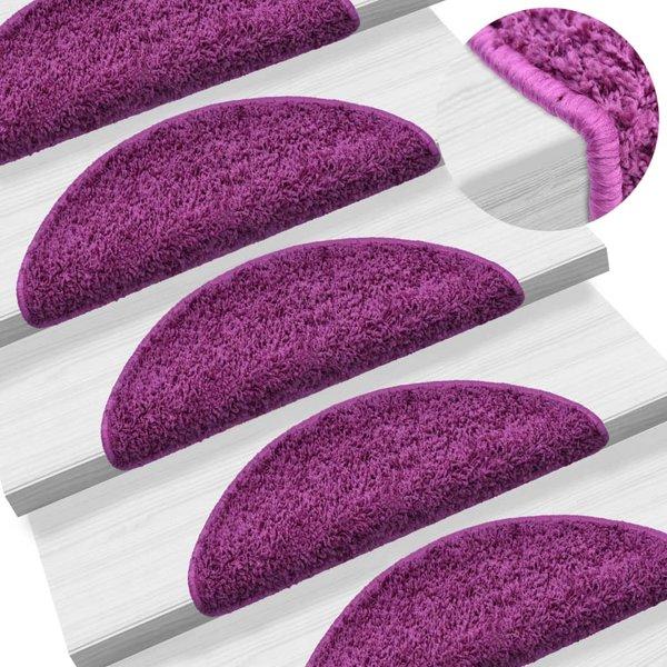 15 st Trapmatten 56x20 cm violet