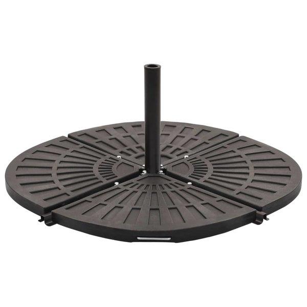 Parasolstandaard met gewichtsplaten zwart