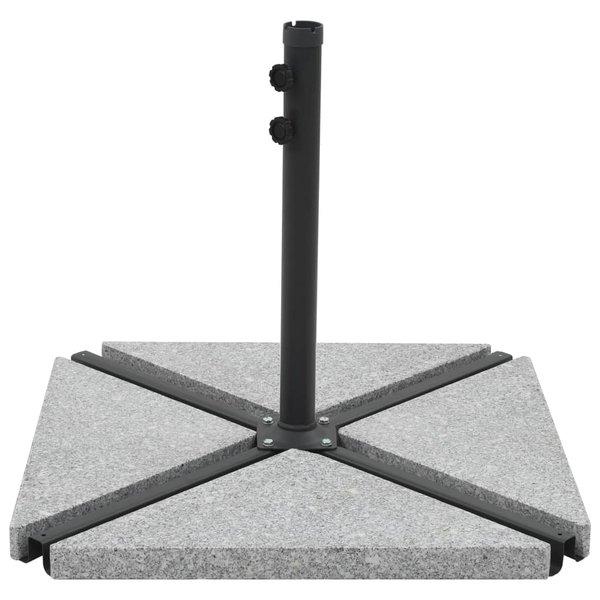 Parasolstandaard met gewichtsplaten grijs en zwart
