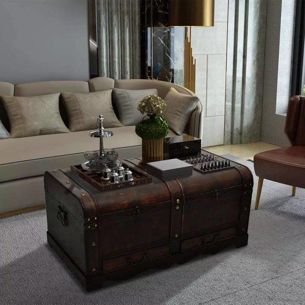 Dekenkist 90x51x42 cm hout bruin