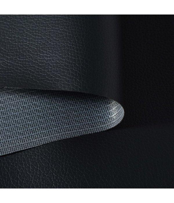 vidaXL Kunstleer 1,4 x 9 m zwart