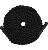 vidaXL Battle rope 12 m polyester zwart