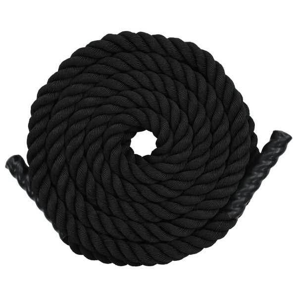 Battle rope 12 m polyester zwart