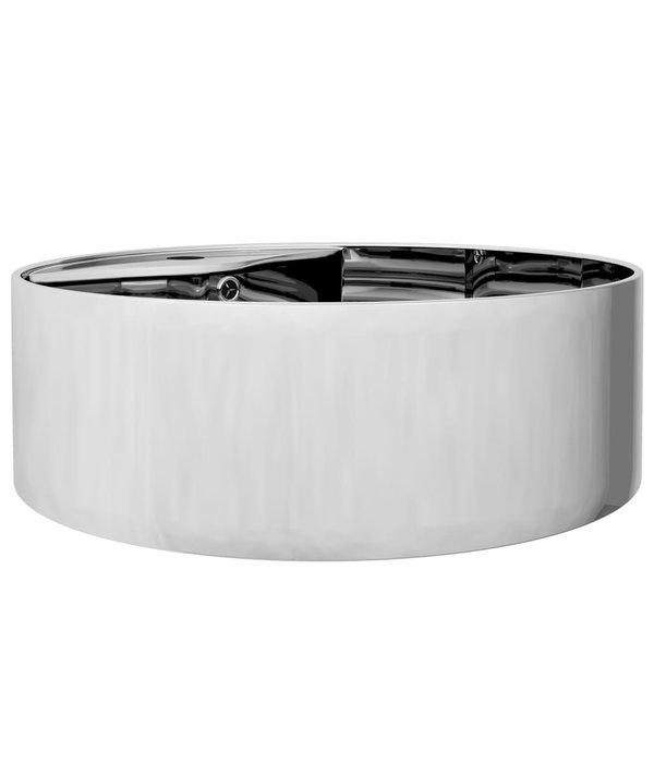 vidaXL Wastafel met overloop 46,5x15,5 cm keramiek zilverkleurig