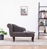 vidaXL Chaise longue kunstleer grijs