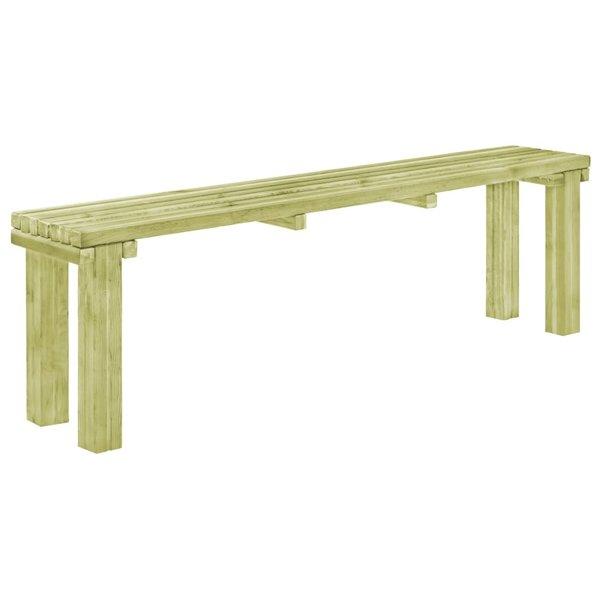 Eetkamerbank 150x27,5x45 cm natuurlijk grenenhout