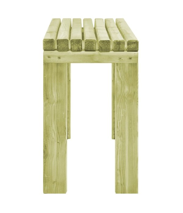 vidaXL Eetkamerbank 150x27,5x45 cm natuurlijk grenenhout